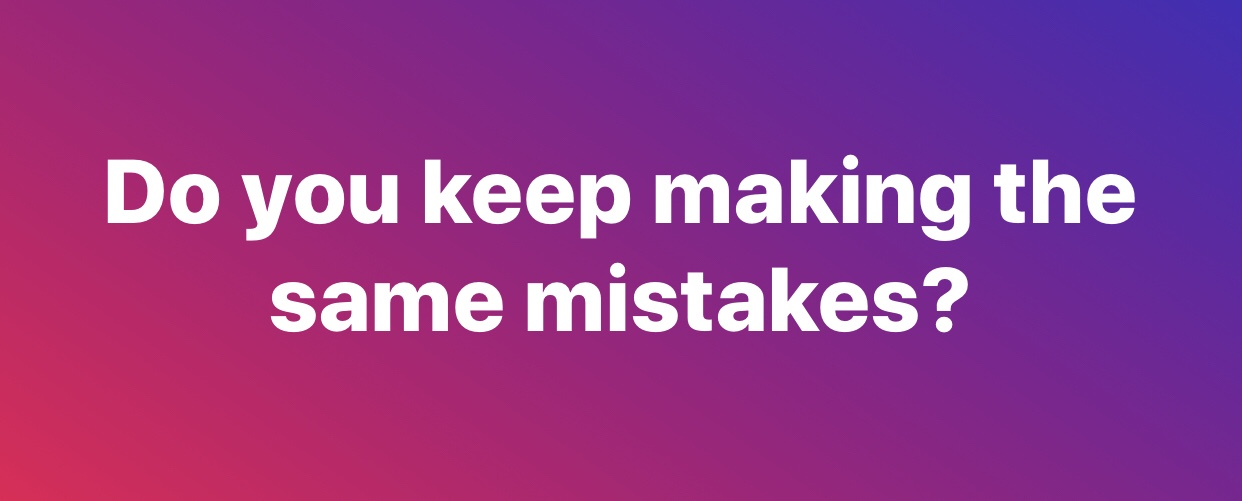 Making the same mistakes