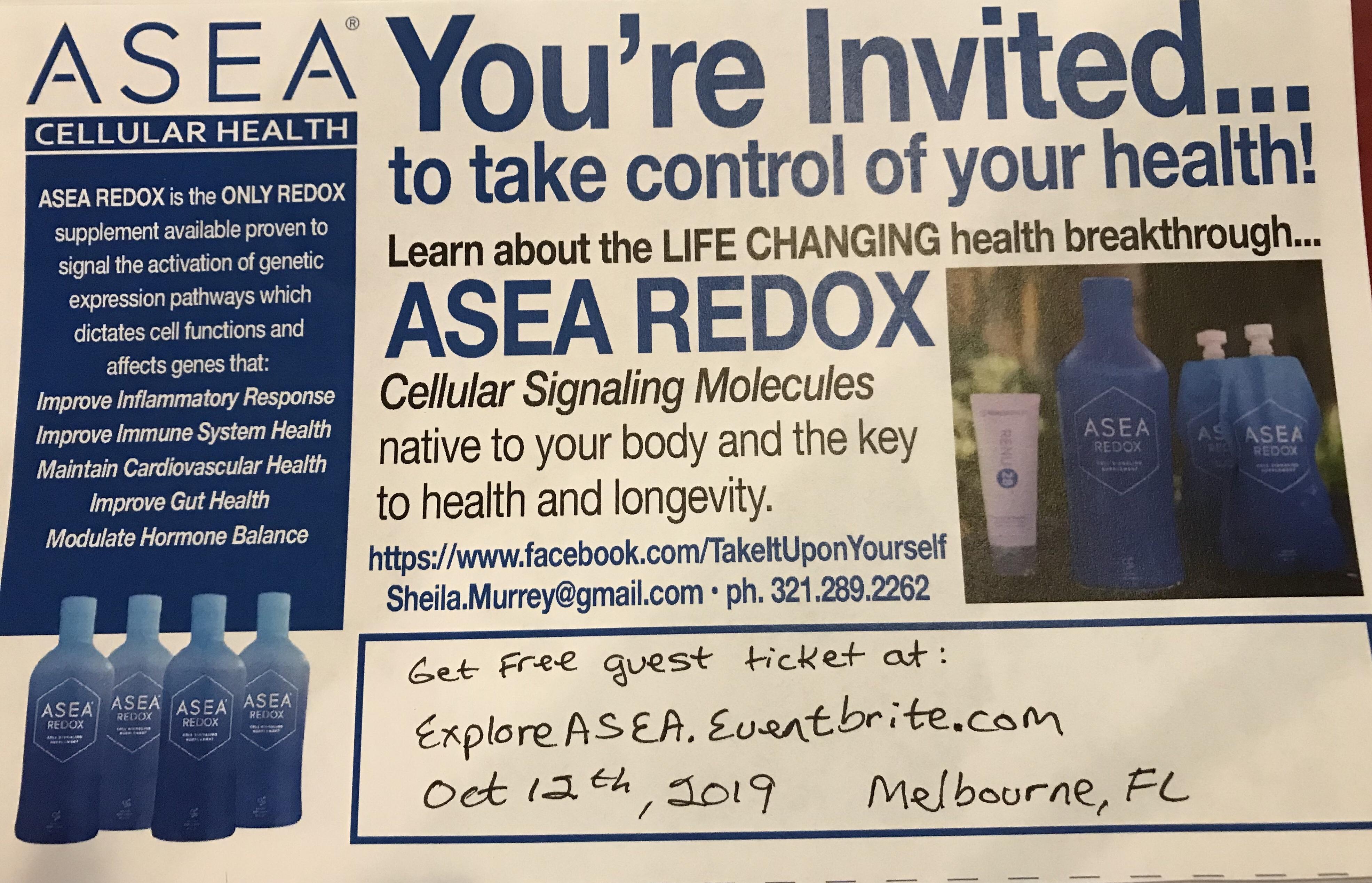 Your invitation - Melbourne FL Saturday October 12, 2019