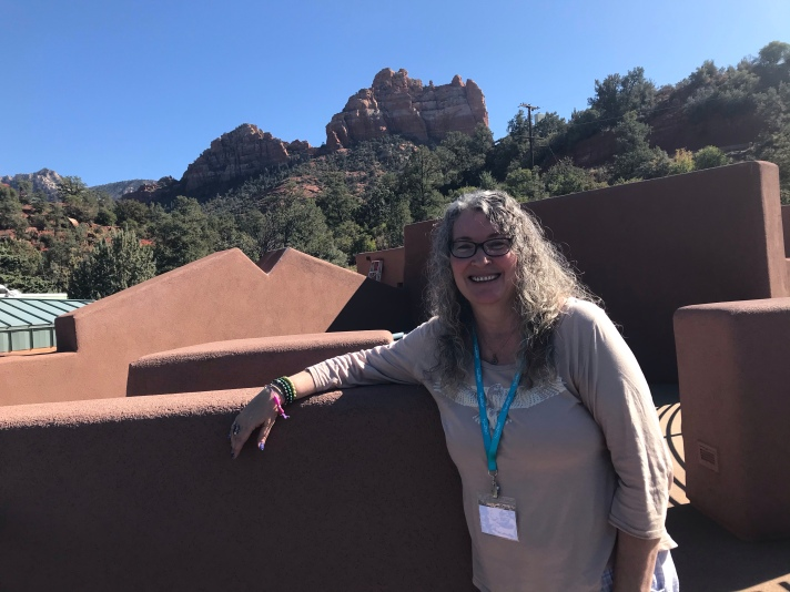 Sheila attending SoulTreat at Creative Life Center, Sedona, AZ